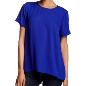 Vince Camuto blue short-sleeve blouse - Size Small